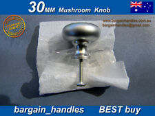 "Kitchen Cabinet doors,Drawers Knobs 1x30mm Satin Chrome Mushroom"" metal"""