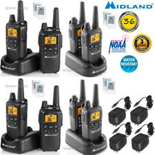 8 Pack Midland 30 Mile Two Way Walkie Talkie Radio Set NOAA + Charger LXT600VP3