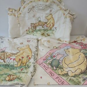 Rare Vintage 90s Classic Winnie The Pooh Cot Bedding Set Mothercare