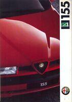 Alfa Romeo 155 Q4 1992 Swiss market (German) original full colour sales brochure