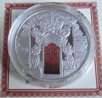 Fiji 10 Dollars 2012 Temple Gates Kori Agung Silber