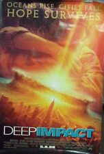Deep Impact Original Double Sided Movie Poster Tea Leoni Morgan Freeman 1998