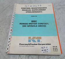 Kearney & Trecker Control Maintenance Manual Supplement (Preliminary) Pub 910