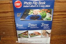 "WEDDING Photo Flip Book #10 page Instant Photo Album 4""x 6""  / 3 easy steps  NEW"