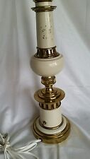 Stiffel Rembrandt Enamel Brass Table Lamp Gray Hollywood Regency Mid Century Mod