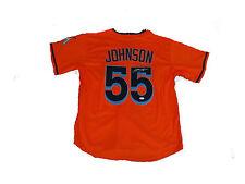 Josh Johnson Signed Miami Marlins ORANGE Jersey JSA