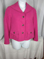 Evan Picone Petite Jacket LG Rose Fuschia Lined Polyester Blend EPOC