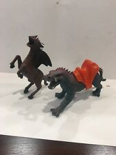 2 Vintage 1984 IMPERIAL SABERTOOTH SERPENT DRAGONS KNIGHTS WITH SADDLE