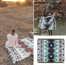 L-XLarge Indian Navajo Rug Cotton Blanket Aztec Sofa Throw BOHO Tapestry Picnic