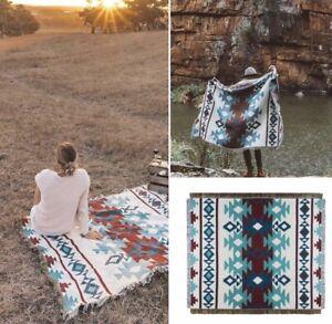 Indian Navajo Rug Cotton Blanket Aztec Sofa Throw Tapestry Picnic