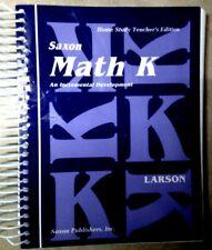 Saxon Math K Homeschool Kit - Teacher's Edition & Meeting Book - VERY GOOD