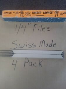 """1/4"""" Chainsaw Files Swiss Made High Quality"""