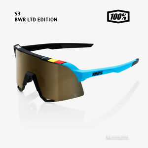 100% Belgian Waffle Ride S3 Cycling Sunglasses : BWR BLACK/SOFT GOLD MIRROR LENS