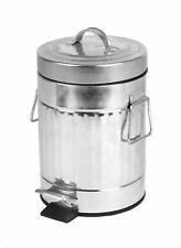 Retro Mülleimer 3 Liter - Kosmetikeimer Bad Abfallbehälter Treteimer Mülltonne