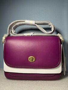 Coach 89127 Rambler Crossbody Bag BRASS/HIBISCUS  MSRP: $395.00