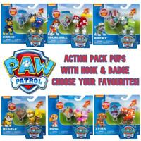 Paw Patrol Action Pack Pup w/ Extendable Hook & Badge - Choose Your Favourites!