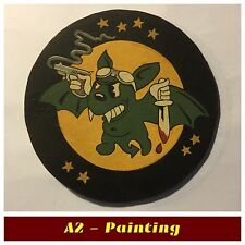 WW2 Hand Painted 422nd Night Fighter Sqd Leather Patch