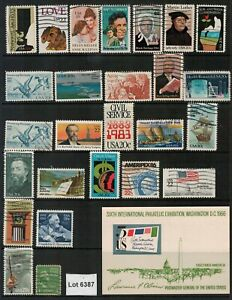 Lot 6387 - USA - Selection of 29 stamps from various years