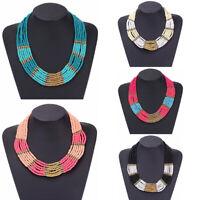 Fashion Women's Jewelry Pendant Beads Choker Chunky Statement Chain Bib Necklace