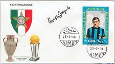 65610 - AJMAN -  1968  Busta FDC  cover FOOTBAL - INTER: Tarcisio Burgnich