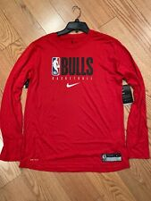 Nike Men's Chicago Bulls Player Issue Dri-FIT Practice Long Sleeve Shirt Sz XXL
