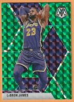 2019-20 Panini Mosaic Lebron James Green Prizm #8 Los Angeles Lakers