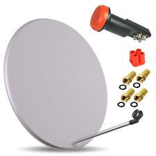 HDTV HD Digitale SAT Anlage QUAD LNB 0,1 + 80 cm Spiegel Schüssel ✔ 4 Teilnehmer