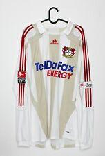 Trikot Bayer 04 Leverkusen Bernd Schneider 25 - TelDaFax - XL weiß grau langarm