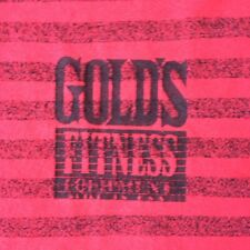 VINTAGE 90's GENUINE GOLD'S GYM-GOLD GYM EQUIPMENT GYM-T-SHIRT-L-RARE