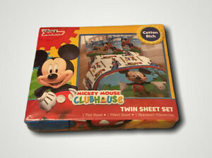 Disney Junior Mickey Mouse Club House Twin Sheet Set
