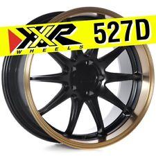 XXR 527D 18x9 5-114.3 +20 Flat Black/Bronze Wheels Rims (Set of 4) Deep Lip