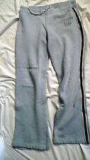 Womens Abercrombie Fitch Size M Blue Athletic Cotton Blend Warmup Pants
