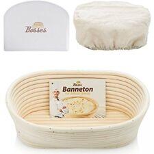 10 Inch Bread Proofing Basket Oval Banneton Set Home Bakery Rattan Basket