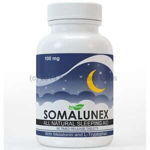 SomaLunex 100mg: Extra Strength Sleeping Pills/Stress Relief Timed Release Tabs