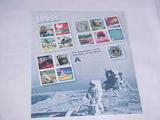 NEW 1960S Celebrate Century U.S. Stamps RARE The Rebellious Sixties Man On MOON