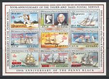 Guyana 1992 trasporto/NAVI/Barche 9 V Sht Rosso O/P s1244