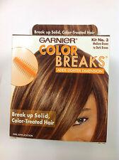 GARNIER COLOR BREAKS NO.3 MEDIUM BROWN TO DARK BROWN Break Up Solid Color NEW.