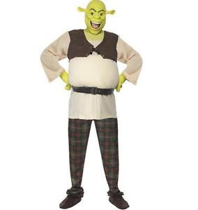 Mens Licensed Deluxe Shrek Fancy Dress Costume & Mask Movie Outfit by Smiffys