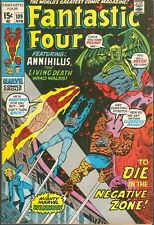 Fantastic Four 109, 111 VF 8.0 OW/W 1971 ANNIHILUS C/S