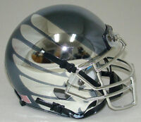 OREGON DUCKS ALTERNATE SMOKE with CHROME WINGS SCHUTT MINI FOOTBALL HELMET