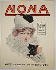 NONA (Song) J.R.Shannon&F.W. Vandersloot,1918 PRETTY GIRL,Sheet Music,HENRY HUTT