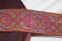 1 yard Rust Rose Baby Blue Pink Sage Metallic Gold JACQUARD Brocade woven ribbon