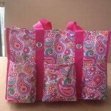 Gifts New Thirty One Organizing shoulder Utility tote Bag - Pink Paisley