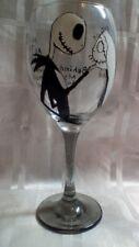 HAND Painted Jack Skellington e Sally romantico preventivo GRANDE Vino in Vetro UK