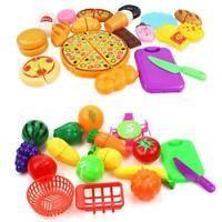 Kids Pretend Role Play Cooking Kitchen Fruit Vegetable Food Toy Cutting Toy Set