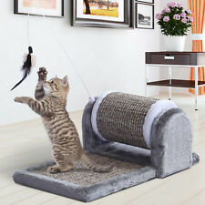 Cat Scratching Pad Kitty Sofa Bed Play Toy Activity Center Scratcher Roller Grey