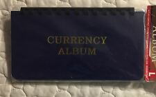 HARRIS  - 10 PAGE LARGE CURRENCY ALBUM - BLUE IN COLOR - NEW