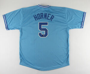 Bob Horner Signed Atlanta Braves Jersey (Tri-Star Holo) 1978 Rookie of the Year