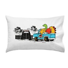 Human Park Dinosaur Movie Parody Dinosaurs in Jeep Single Pillow Case Soft New
