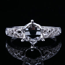 Sterling Silver 925 Semi Mount Engagement Wedding Fashion Fine Ring Oval 9x7mm